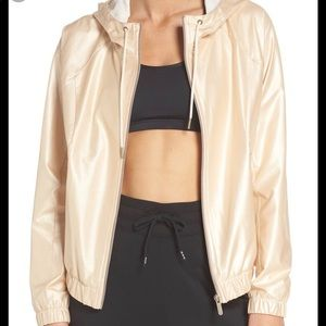 Zella Style Game Shine Hooded Jacket Gold Size XXS